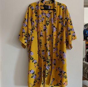 Yellow Floral Kimono
